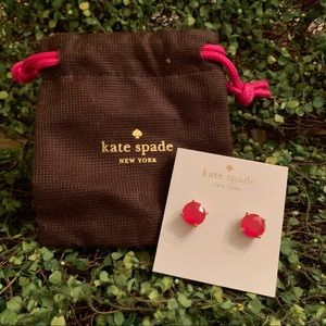 Kate Spade ♠️ stud earrings PINK 💕